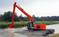 The Bardai Group has a wide range of forefront Amphibious Excavators.